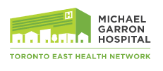 Logo of Michael garron hospital